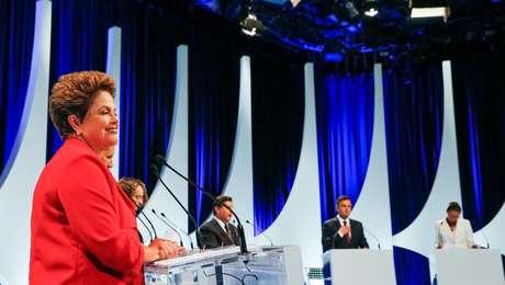 <p>Candidatos participam do debate realizado pelo SBT em 1º de setembro</p>