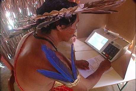 """<p>""""Maioria dos índios faz questão de votar"""", disse coordenador da Funai</p>"""