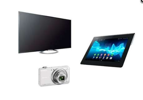 "Paquete Pantalla Led Sony Bravia 55"" W800 + Tablet Xperia S 16Gb + Cámara Digital Cyber-Shot Wx80 16Mp de $40,999.00 a $17,999.00"