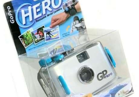 Primeira GoPro foi lançada em 2004 e ainda era uma câmera analógica com filme de 35 mm