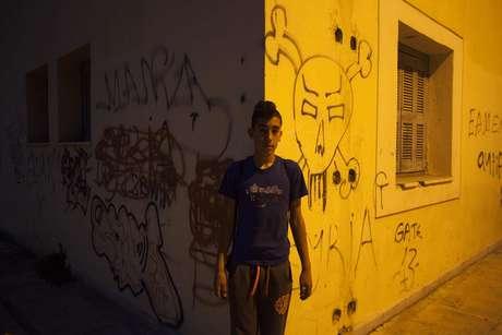 O pai de Malak teme pela segurança de seu filho, especialmente após uma onda de ataques contra imigrantes na Grécia