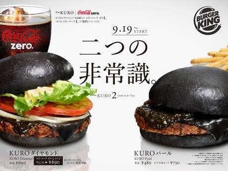 <p>Lanche leva pão, queijo e molho tingidos naturalmente com a cor preta</p>