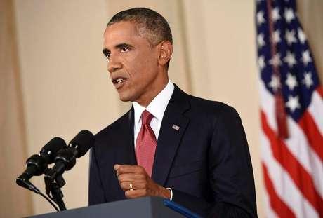 <p>Obama faz discurso na TV sobra ações contra o Estado Islâmico</p>