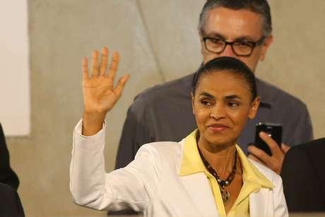 Marina Silva teve uma participação discreta, evitando fazer comentários contundentes