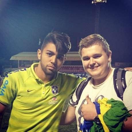 <p>André ao lado de Gabigol em torneio da Seleção sub-20</p>