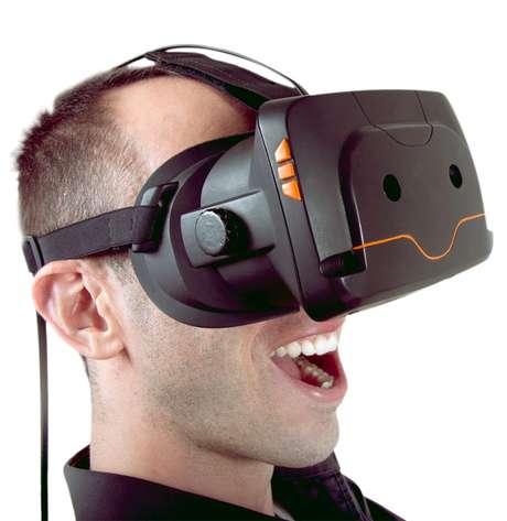<p>Óculos Totem possui câmeras embutidas, aumentando a experiência de realidade virtual</p>