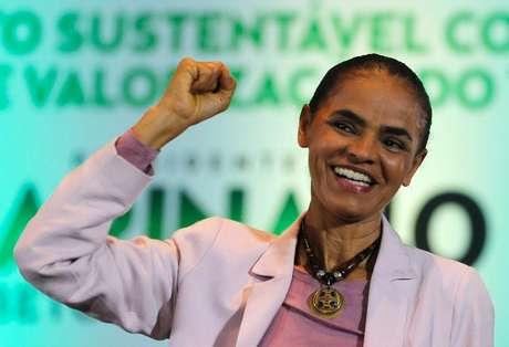 Candidata do PSB à Presidência, Marina Silva, em ato de campanha em São Paulo. 24/09/2014