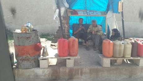 Posto de gasolina sírio: rebeldes para a extração do minério por medo de ataques