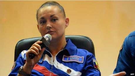 Yelena Serova foi treinada por oito anos para a missão espacial, que vai durar 6 meses