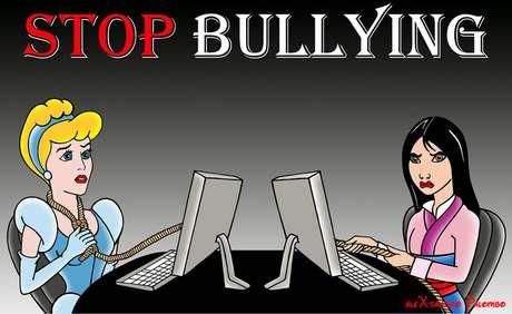 Personajes de dibujos animados son víctimas de bullying