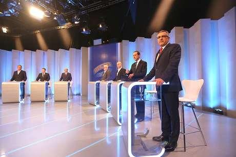 <p>Candidatos participaram do debate da TV Globo nesta terça</p>
