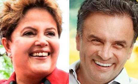 <p>Dilma Rousseff e Aécio Neves disputam segundo turno em 26 de outubro</p>