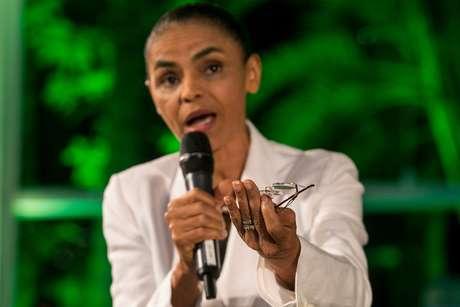 <p>Candidata Marina Silva ficouna 3ª colocação no primeiro turno das eleições</p>