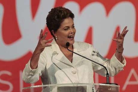 <p>Presidente e candidata &agrave; reelei&ccedil;&atilde;o,&nbsp;Dilma Rousseff, durante un discurso em&nbsp;Bras&iacute;lia em 05/10</p>