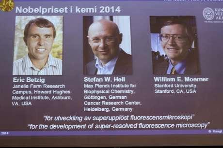 Os três cientistas levaram o Nobel de Química