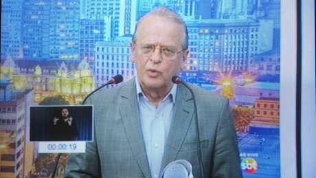 <p>Tarso Genro, candidato do PT ao governo do RS</p>