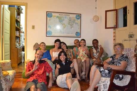 <p>Família reunida no último natal em família antes da morte de Gabriela</p>