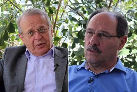 <p>Tarso Genro (PT) eJosé Ivo Sartori (PMDB), candidatos ao governo do Rio Grande do Sul</p>