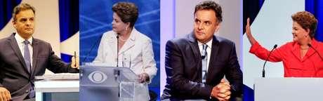 <p>Rumores do mercadoindicam que supostas pesquisas de intenções de voto feitas por bancos teriam um empate entre Dilma Rousseff (PT) estaria empatada com Aécio Neves (PSDB)</p>