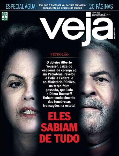 <p>Mat&eacute;ria da revista Veja associa Dilma ao esc&acirc;ndalo da Petrobras</p>