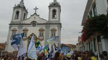 <p>Solar dos Neves, no centro histórico de São João del Rey, onde o candidato deu entrevista coletiva</p>
