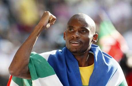<p>Mbulaeni Mulaudzi durante a Olimpíada de 2004</p>