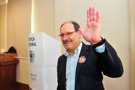 """<p><span style=""""font-size: 15.1999998092651px;"""">Candidato José Ivo Sartori participa da Convenção Estadual PMDB em Porto Alegre, em 30 de junho</span></p>"""