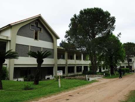 Refugiados sírios estão hospedados na instituição religiosa Hogar Marista (Lar Marista)