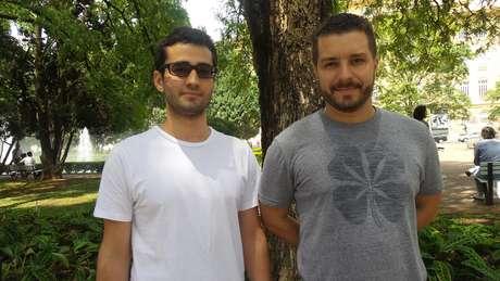 <p>Diego e Francisco, publicitários</p>