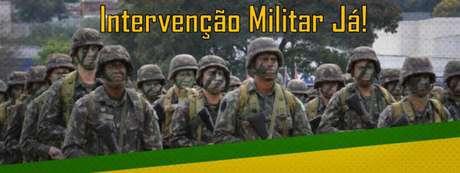 Página do Exército recebe pedidos de intervenção militar