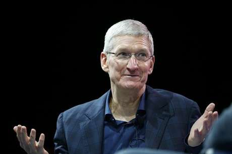 <p>Tim Cook, presidente-executivo da Apple</p>