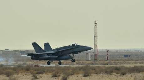Jatos CF18 canadenses são vistos no Iraque