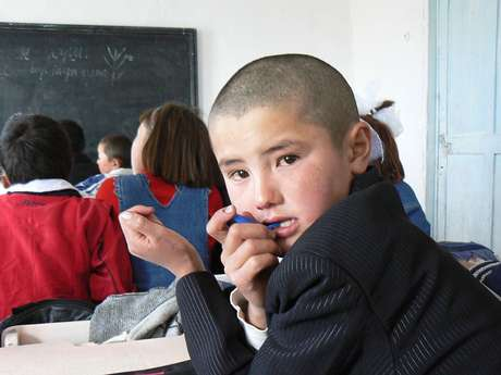 Estudante quirguiz