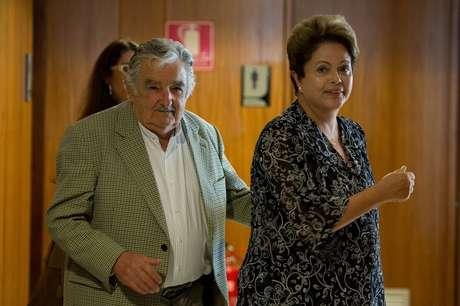 Presidenta Dilme Rousseff recebeu o presidente do Uruguai, José Mujica, no Palácio do Planalto, na tarde desta sexta-feira, 7 de novembro