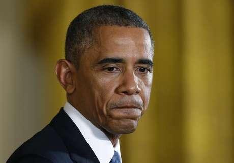 O presidente dos EUA, Barack Obama, concede entrevista no Salão Leste da Casa Branca, em Washington, nos Estados Unidos, na quarta-feira. 05/11/2014
