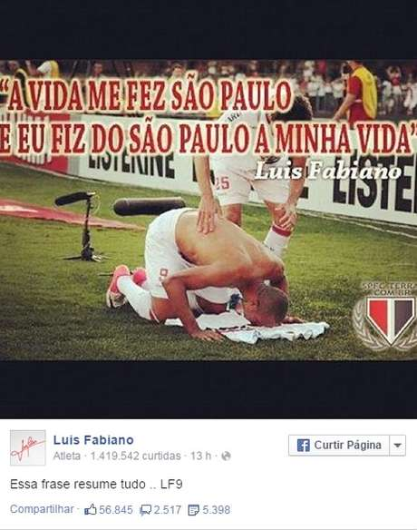Luís Fabiano Esfria Rumores De Fla Vida Me Fez São Paulo