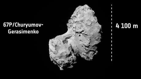 """<p>Formato do cometa surpreendeu. Ele tem, na verdade, o formato de um pato de borracha"""", diz Fonseca</p>"""