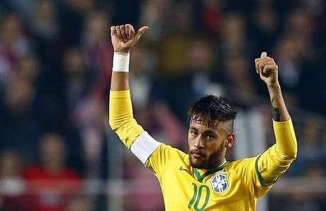 <p>Neymar se tornou o capit&atilde;o do Brasil depois da Copa</p>