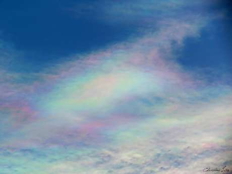 <p>Colorido no céu chamou a atenção de moradores de Fortaleza</p>