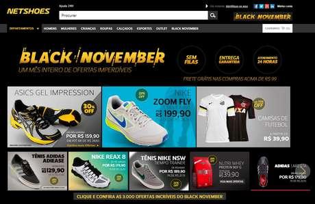 <p>A Netshoes, e-commerce de artigos esportivos e moda, resolveu antecipar a Black Friday e está oferecendo diversas ofertas e promoções em seu site durante todo o mês de novembro</p>