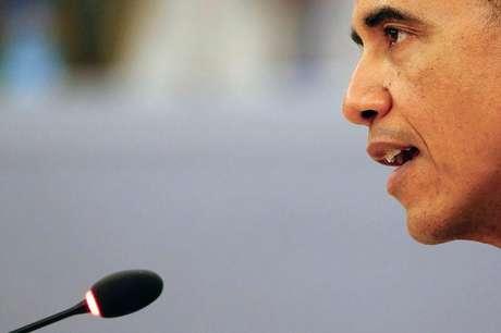 Presidente dos EUA, Barack Obama, durante reunião em Naypyitaw. 13/11/2014