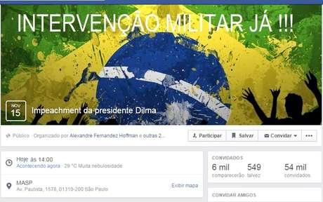 <p>Evento criado no Facebook tinha 6 mil confirmados</p>
