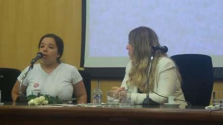 """A secretária Luciana Periqui, de 27 anos, considera o parto de seu primeiro filho """"uma cicatriz"""" com a qual terá de conviver"""