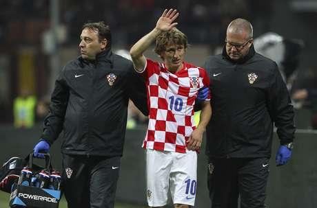 Luka Modric sofreu lesão grave pela Croácia
