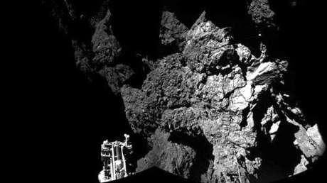 <p>A sonda europeia Philae realizou um pouso inédito em um cometa a500 milhões de quilômetros da Terra</p>