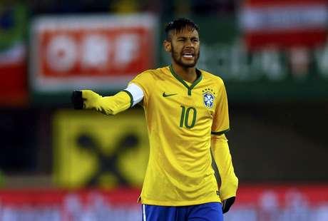 <p>Neymar é o capitão da Seleção de Dunga</p>