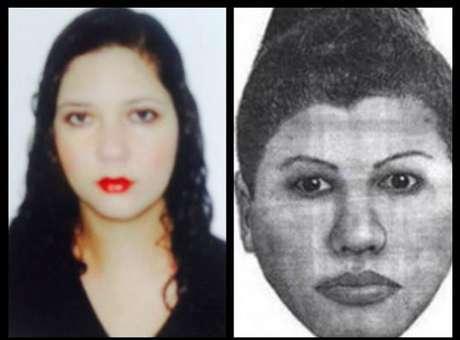 <p>Retrato falado de suspeita de praticar magia negre (direita) e foto de Fabiane Maria de Jesus</p>