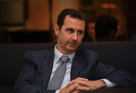 Presidente da Síria, Bashar al-Assad, durante entrevista com a revista francesa Paris Match, em Damasco. 04/12/2014