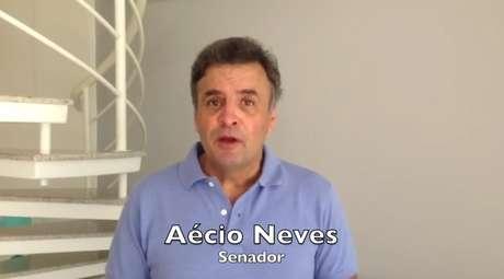 Senador Aécio Neves chamou pessoas ao protesto realizado neste sábado