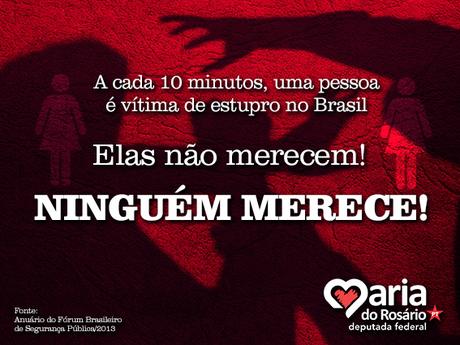 Deputada reage a Bolsonaro: #NenhumaMulherMereceSerEstuprada